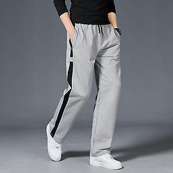 Men Loose Sport Running Stripe Sweatpants