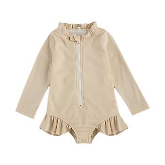 2021 Kid Baby Bathing Bodysuit Cute Spring Summer Long Sleeve Swimming Bikini