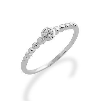 Gemondo 925 Sterling Silver 0,02 ct diamant stapelbara månads Ring