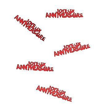 Confetti gelukkige rode verjaardag passie