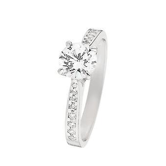 Ring 'Brilliant Lover' Wit Goud