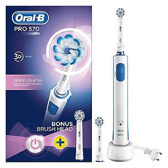 Brosse à dents électrique Oral-B Power Pro 570 3D Sensi + Brosse supplémentaire