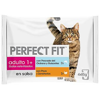 Perfect Fit Wet Food for Sterilized Fish and Turkey Cats (Cats , Cat Food , Wet Food)