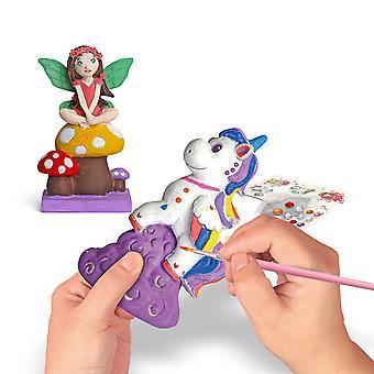 DIY Handmade Unicorn White Embryo Graffiti Flower Fairy Ocean Suit Girl Creative Toy