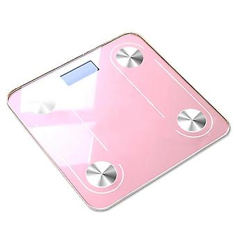 Bluetooth smart fat scale electronic weighing scale(Pink)