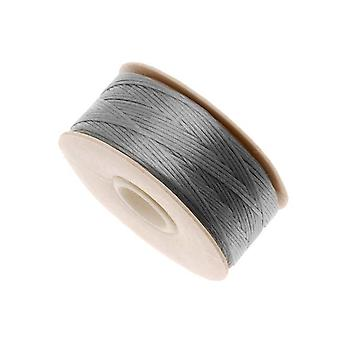 """NYMO Nylon Beading Thread Size D for Delica Beads """"Grey"""" 64YD (58 Meters)"""