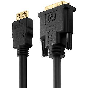 FengChun PI3000-040 HDMI auf Single Link DVI Verbindungskabel (2K FullHD (1080p), Ethernet), HDMI-A