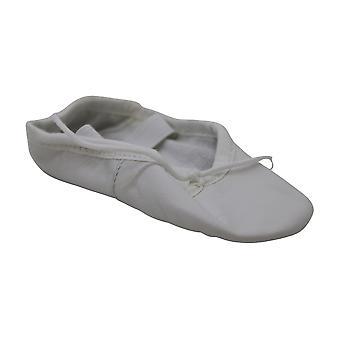Leo Girls' Ballet Russe Dance Shoe White 6 D US Toddler