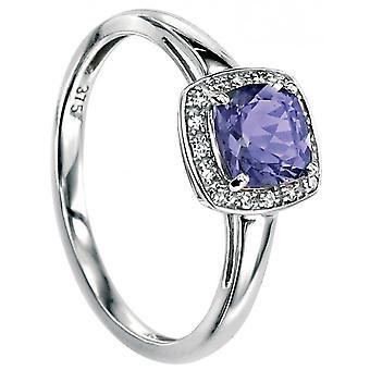 9 ct золото перидот и алмазов кольцо 0,064 карат