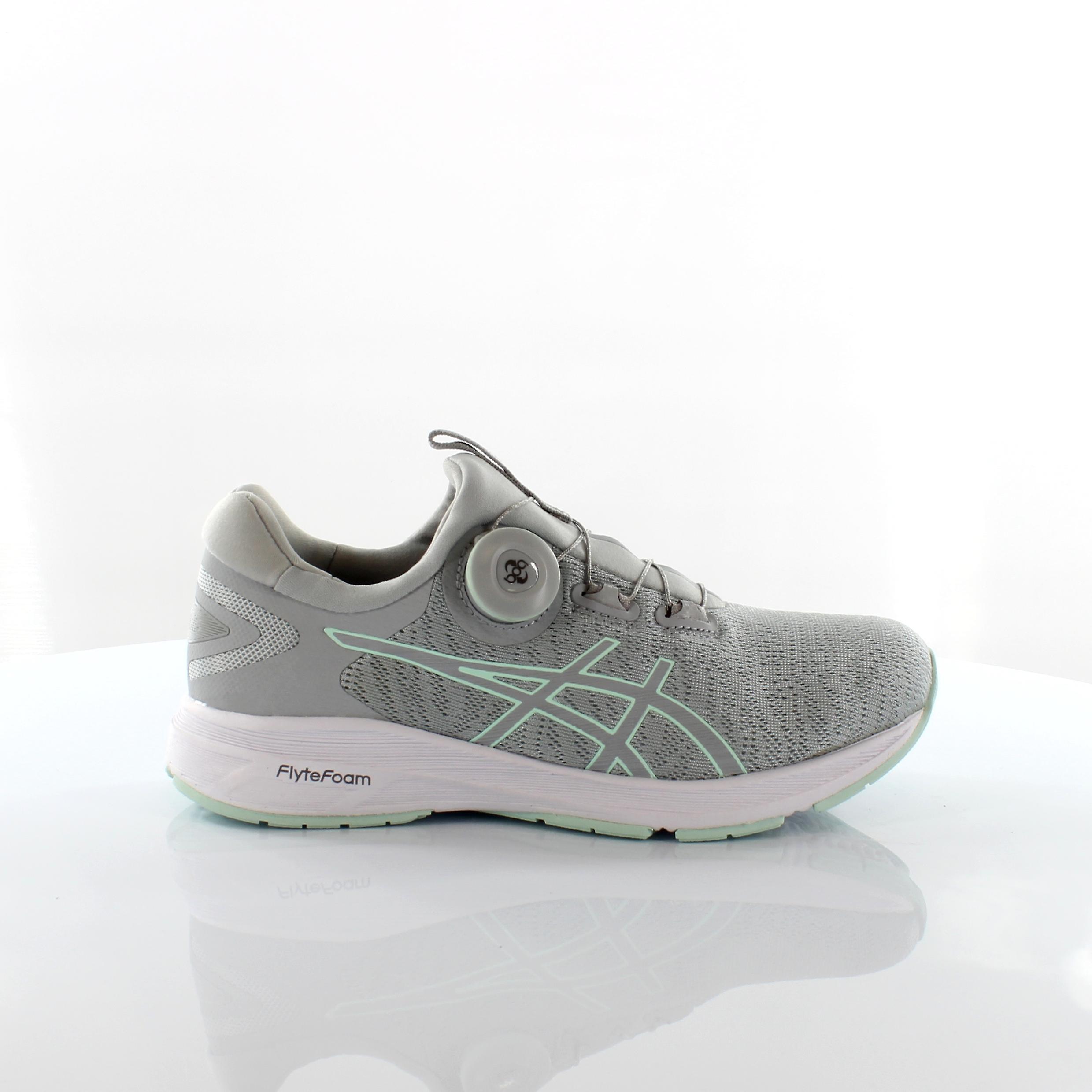 Asics Dynamis Grey Mint BOA Disc Womens Running Trainers T7D6N 9696