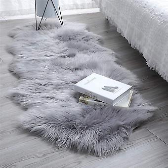 Faux Lammfell Schaffell Teppich, Kunstfell in Super Weich Lammfellimitat Teppich Langhaar Fell Optik