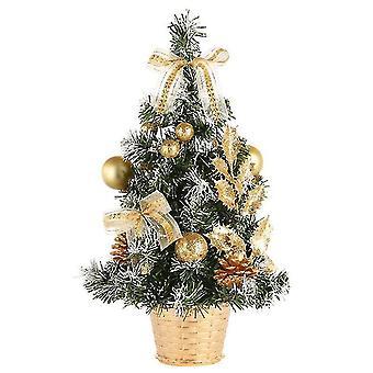 Künstliche Mini-Weihnachtsbaum Tischplatte Weihnachtsbaum mit LED-Licht und Kiefer Kegel x1211