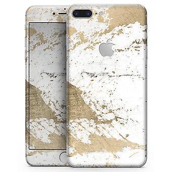 Mármore com folhado de ouro V1 - Kit de pele para o Iphone 8 ou 8 Plus