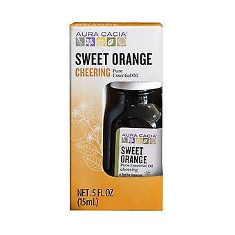 Huile essentielle d'aura cacia, orange douce 0,5 oz