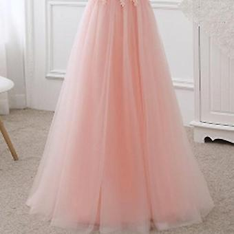 Sexy Bootsausschnitt Schnürung Langes Kleid