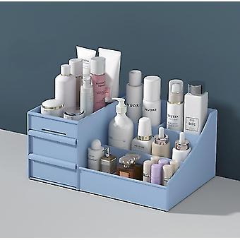 Kosmetiikka säilytyslaatikko laatikko tyyppi muovinen säilytysteline (sininen)