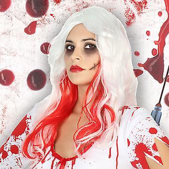 Halloween peruukki valkoinen 115281