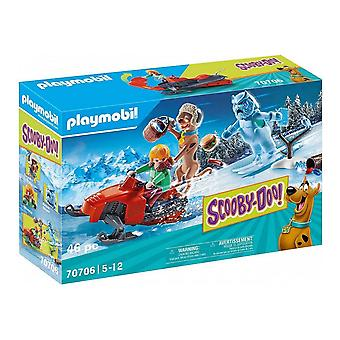 Playset Scooby Doo Adventure with Snow Ghost Playmobil 70706 (46 pcs)