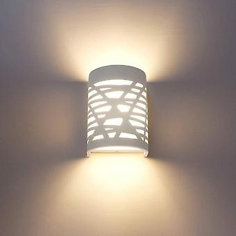 Lndoor Wall Lamp White Wall Lamp Plaster Wall Lamps For Bedroom Hallway Living Room Kitchen - Warm White
