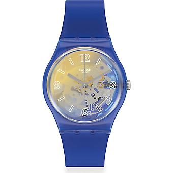 Swatch Gn278 Gul och Blå Silikon klocka