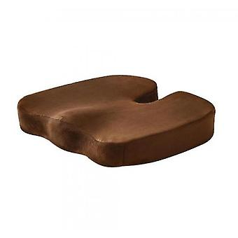 Super Soft Velvet Cushion Memory Foam Cushion(Brown)