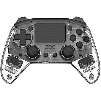 בקר משחק אלחוטי Bluetooth עבור קונסולת PS4 6 ציר כפול רטט Gamepad(שקוף)