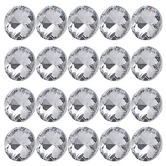 Buttons snaps 20pcs 20mm diamond clear crystal charm upholstery sofa headboard sew buttons