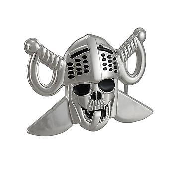 Utuktig Knight Skull & kryssede sverd beltespenne