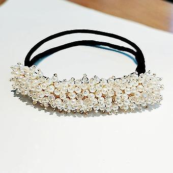 Menyasszonyi strassz gyöngyvirág átlátszó kristály kézzel készített Maruko haj csapok klipek