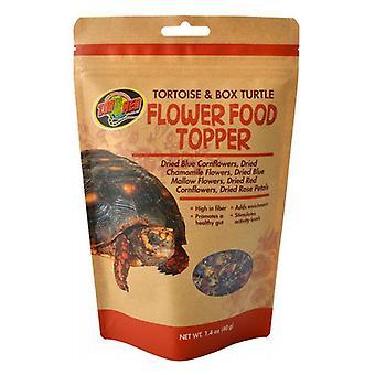 גן החיות צב Med & קופסה צב פרח מזון טופר - 1.4 oz