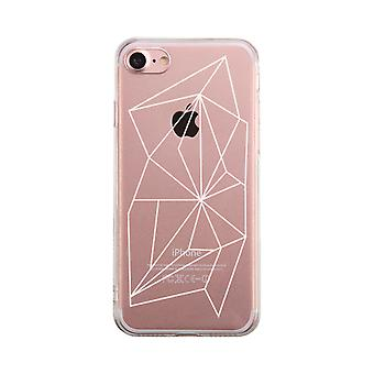 Reticolo geometrico telefono trasparente caso carino chiaro Phonecase