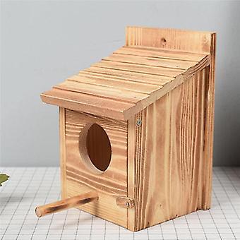 Large Nest Nest House Bird House Bird House Birdhouse Wooden Box Round Door|Bird Cages & Nests