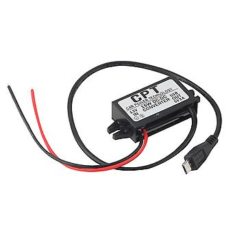 Car Auto Charger Dc Converter Module 12v To 5v 3a 15w With Micro Usb Cable
