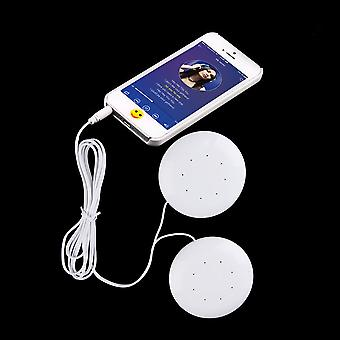1pc Dual 3.5mm Dual Speakers Music Pillow Speakers For Mp3/ Mp4 Music Player