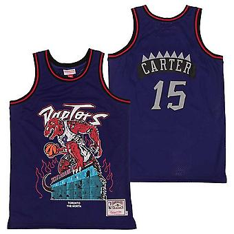 Mens Basketball Jerseys 24 Bryant 23 James 15 Carter Pirate Skull Retro Jerseys For Men Youth Outdoor Sports T-shirt 90s Hip Hop Clothing For Party