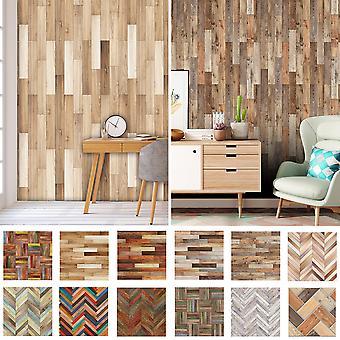 20pcs Imitation Wood Grain Floor Wall Tile Stickers Diy Self Adhesive Waterproof
