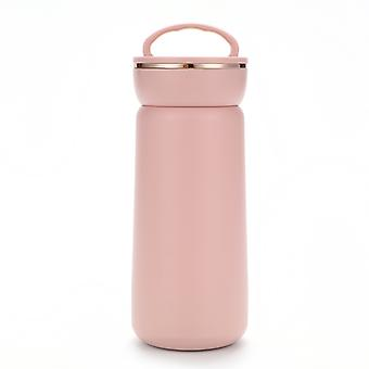 Vacuum Insulated Hot Water Bottle Stainless Steel Flask Travel Mug Coffee Cup 13oz ,pink