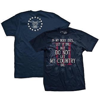 Ranger Up Three Percenter If My Body Dies T-Shirt - Navy
