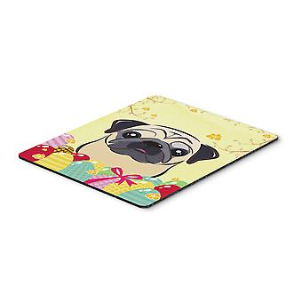 Fawn Pug Easter Egg Hunt Mouse Pad, Hot Pad or Trivet