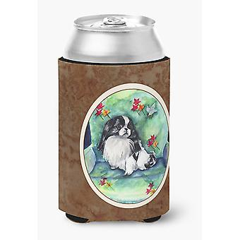 Carolines Treasures  7034CC Japanese Chin in Momma's Chair Can or Bottle Hugger