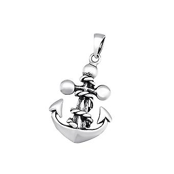 Anchor - 925 Sterling Silver Plain Pendants - W34675X