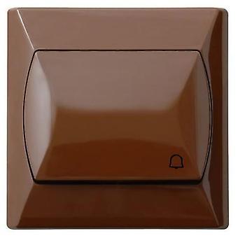 シンプルな大きなボタン反応プッシュ リリース ドア ベル スイッチ プレート 3 色