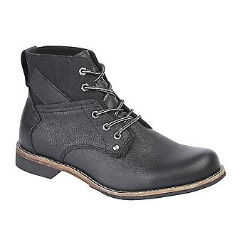Woodland Mens Tumble Leather 5 Eye Ankle Boots