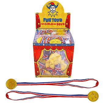 Henbrandt Classic Gold Party Plastic Medal (Box Of 120)