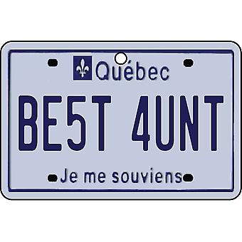 QUEBEC - Best Aunt License Plate Car Air Freshener