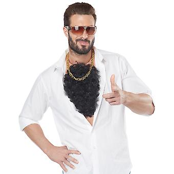 Macho Tough Guy Disco Gangster 1960s 70s 80s 90s Men Costume Hairy Chest Cover
