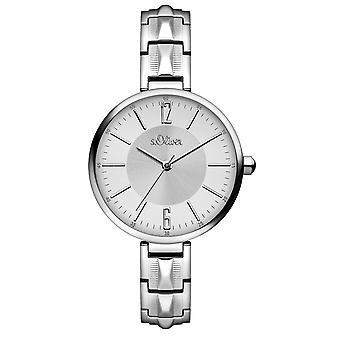 s.Oliver Damen-Armbanduhr Analog Quarz SO-15121-MQR