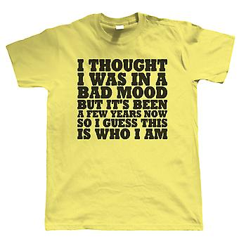 In A Bad Mood, Mens Funny T Shirt - Grumpy Old Man Gift Him Dad Fathers Day