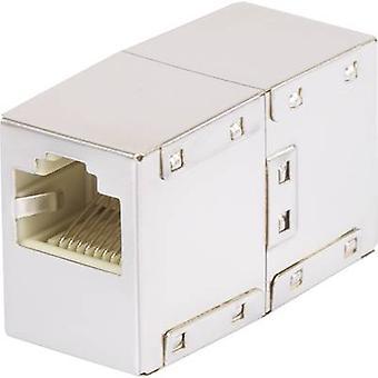 Renkforce RJ45 Networks Adapter CAT 5e [1x RJ45 socket - 1x RJ45 socket] White