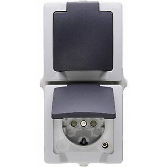 Kopp 136956008 Wet room switch product range PG socket (+ lid) Nautic Grey